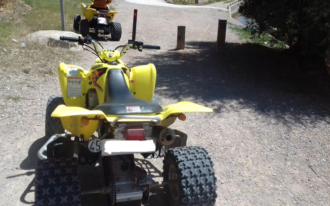 El Consorci riu Millars intercepta els conductors de dos quads que circulaven per la ruta verda d'Almassora