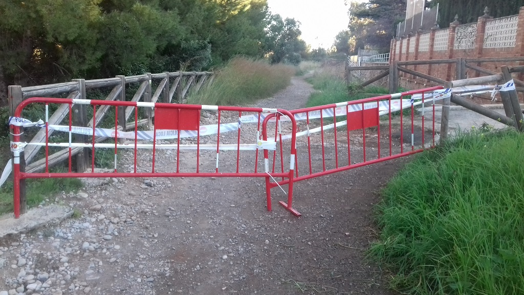 El consorci riu Millars recorda que un tram de la ruta botànica del Paisatge Protegit de la Desembocadura continua tancada al públic