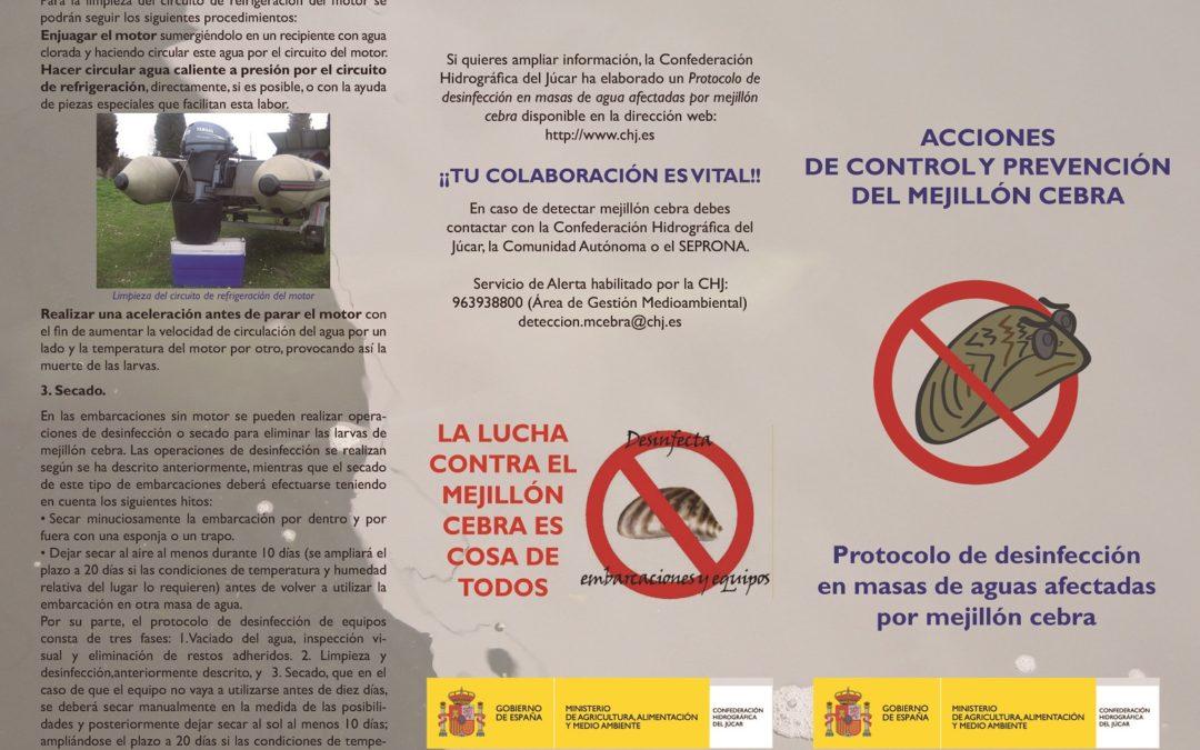 Protocol de desinfecció de la clòtxina zebrada (espècie invasora)
