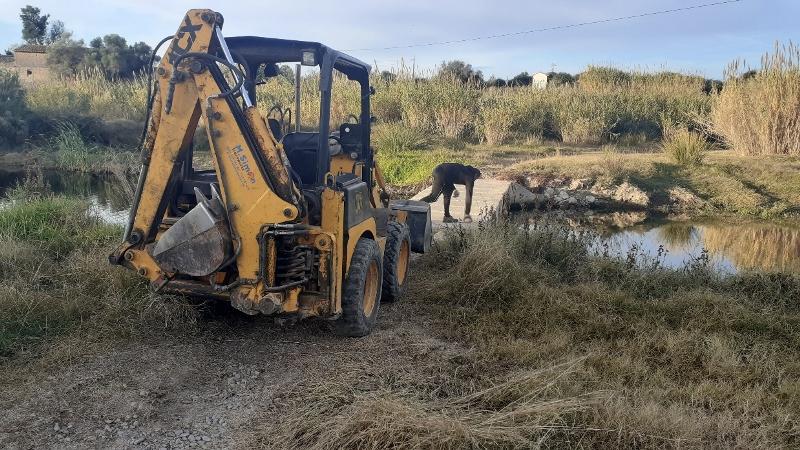 El Consorci gestor del Paisatge Protegit de la Desembocadura del riu Millars repara el pas de la Pila